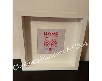 Home sweet home cross stitch frame
