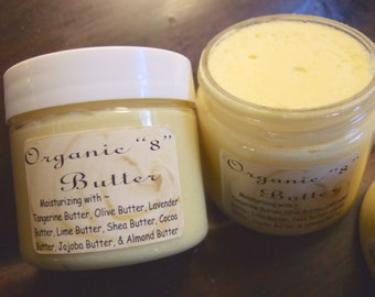 ORGANIC 8 BUTTER ~ Pure Natural Butters