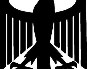 german eagle vinyl decal/sticker