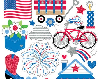 Yankee Doodle Icons Sticker from Doodlebug Design