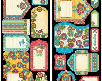 BOHEMIAN BAZAAR by Graphic 45 - TAGs and POCKETs - Rare and RETIRED Collection -