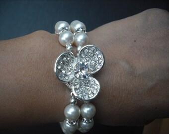 ANNA Collection, Bridal Bracelet, Rhinestone Crystal Bracelet, Vintage Style Bridal Jewelry, Weddng Jewelry