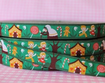 1m woven ribbon: Hansel and Gretel