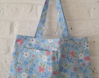 Upcycled Floral Cotton Bag
