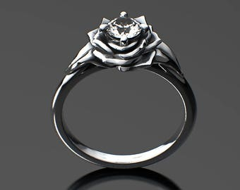 Essence of a Rose - Engagement Ring