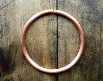 handforged copper bangle