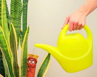 "Winter-proof Handmade Ceramic decoration with watering function ( water dropper ) ""WORM'' H28cm. © MideneArtStudio (GW10)"