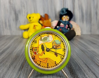 Childrens Clock - Kids Alarm Clock -  Kids Room Decor - Smiley Face Clock - Fun Clock - Cute Clock