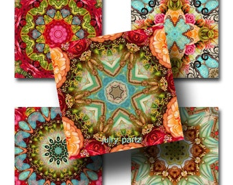 MOROCCO 2x2, Mandalas, 2x2 Square Images,Printable Digital Images, Cards, Gift Tags, magnets, Yoga, Meditation