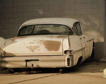 Old Cadillac In Sepia Tones Classic car Classic Cars  Photograph Great for  Garage or  Man Cave Masculine Print Wall Hanging Home Decor