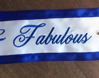 70th Birthday Celebration Sash 70 and Fabulous