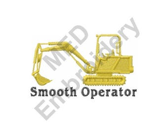 Truck - Machine Embroidery Design, Backhoe, Smooth Operator