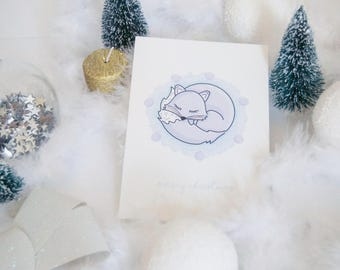 """Merry Christmas"" Fox card"