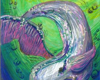 Oh Whale Original Art Print