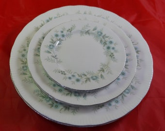 Lot of 6 Paragon Bone China Plates in the Debutante Pattern Dinner Salad and B & B