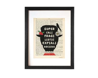 Mary Poppins print-Supercalifragi print-Poppins quote print-Poppins book art-print-nursery print-Christmas gift-home decor-NATURAPICTA-DP114