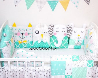 baby bed protector pillows  Montessori bed