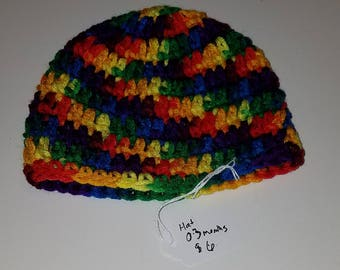 Hand Crocheted Beanie Hat 0-3 Months Mexicana