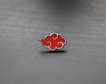 Red Dawn Cloud Pin - Enamel Pin Lapel Pin