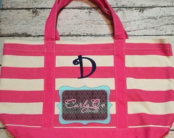 Monogrammed tote bag/beach bag