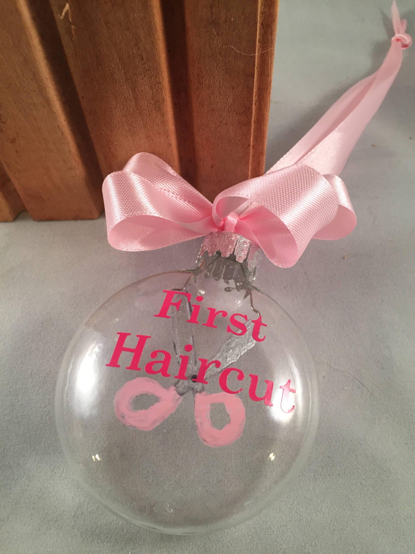 First Christmas Baby\'s 1st Haircut Keepsake Christmas
