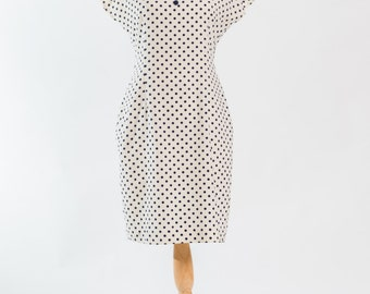 Vintage 1980s polka dotted sailor dress (Size 12 Aust / 8 USA / 12 UK)