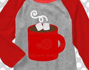 Hot chocolate svg, Christmas svg, joyful svg, SVG, DXF, EPS, Christmas coffee svg, monogram svg, merry svg,  cut file, blessed svg, joy