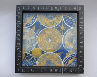 Globes Box Framed Painting