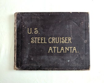 US Steel Cruiser Alabama, 1887 pictorial history, hardcover, original