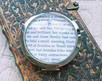 Customizable Anne Of Green Gables bookpage pocket mirror