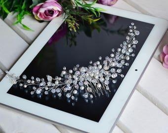 bridal hair comb, Wedding Accessories, Wedding hair comb, Pearl hair comb, jewelry, crystal comb, bridal hair accessories, crystal hair vine