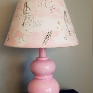 Mermaid Accent Lamp, Mermaid Nursery/baby Lamp, Beach/ocean Lamp, Girl