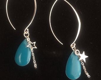Earrings silver plated hooks.