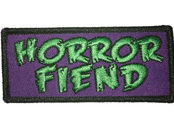 Horror Fiend Iron-On Patch FREE U.S. SHIPPING