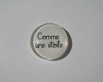 "Cabochon 20 mm with the Scripture ""like a star"""