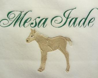 Custom Personalized Horse Baby Blanket