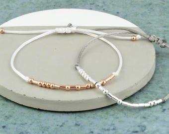 Morse Code 'Thankyou' Bracelet