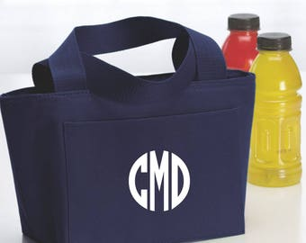 Monogrammed Insulated Lunch Bag Personalized Lunch Tote Monogrammed Snack Tote  Personalized Teach Lunch Bag Personalized Teacher