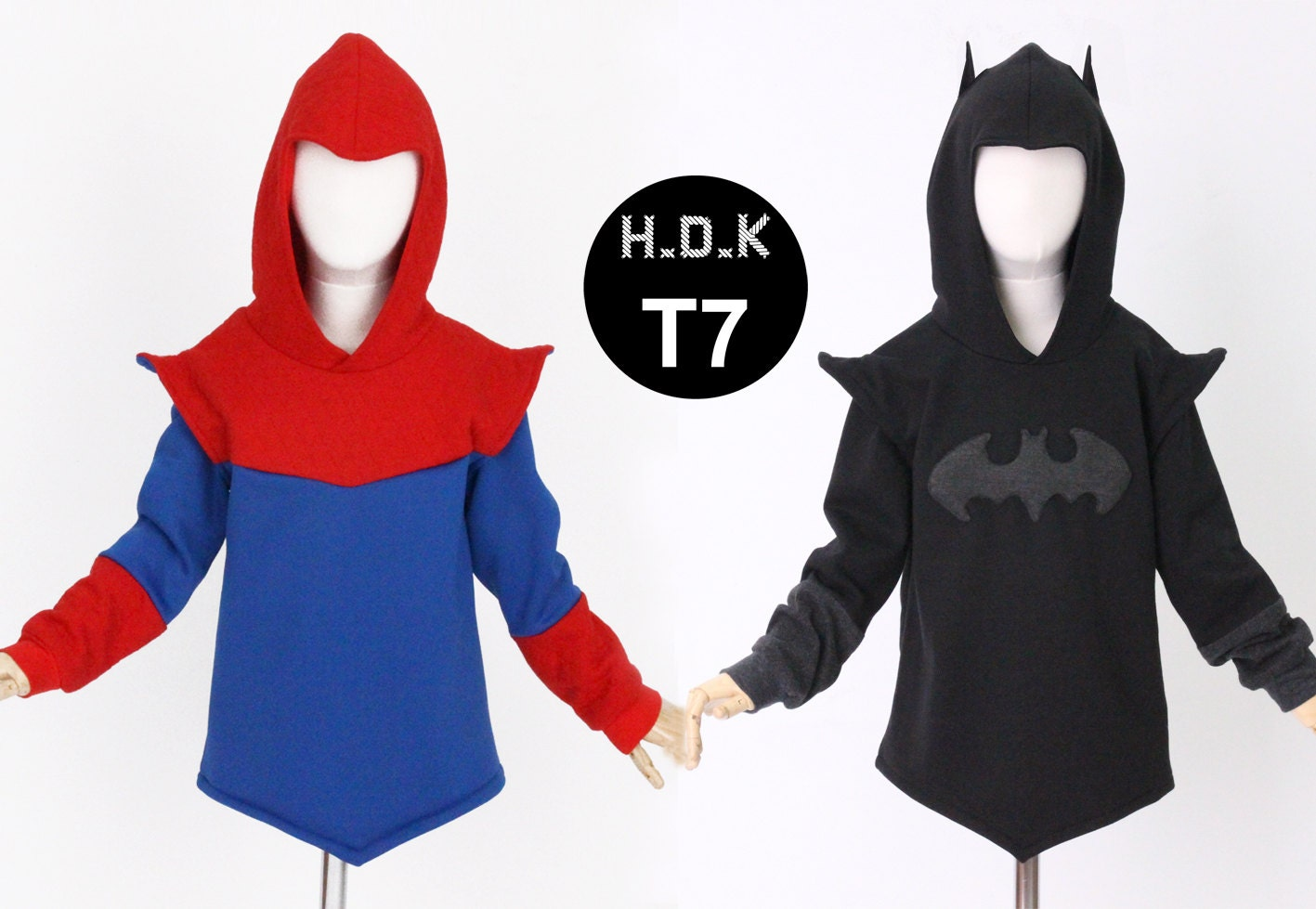 Kids sewing pattern pdf2 in 1 pattern kids batman hoodie zoom jeuxipadfo Images