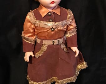 Vintage Doll 1950's Cowgirl Western Doll Mid Century Doll, Cowboy, Vintage Toys, Texas, Rustic, Antique Doll SALE PRICE was 40 now 35.00