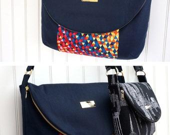 The Manhattan Bag - Sewing Pattern - 2 Sizes PLUS Eyeglasses Case