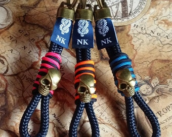 Skull keychain  -- Llavero calavera pirata