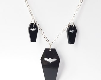 3 Coffins Necklace