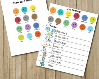 Feelings Charts/Emotions activity/emotional development/download/1 inch/learning/emotions