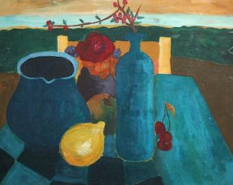 Avant Garde still life oil painting