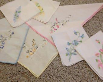 Three Sets of Matching Handkerchiefs - Seven Total