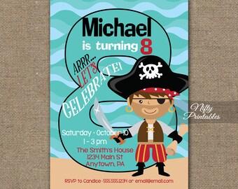 Printable Birthday Invitations For Boy ~ Boys th birthday invitation th birthday pirate invitations
