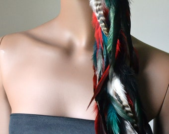 Extra Long Single Feather Earring, Bohemian Jewelry,Real Feather Earring