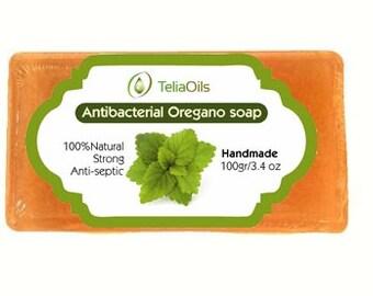 Anti-septische Oregano Seife 100 % natürliche Anti-Bactirial 100 Gr / 3.4 oz Therapeutic Grade.
