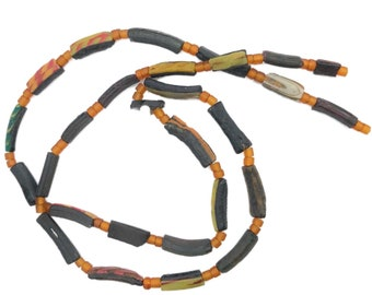 Amazing Authentic Viking Glass Bead Necklace - Restrung - 900-1100 AD - Comes with COA !! Cool and Wearable !!